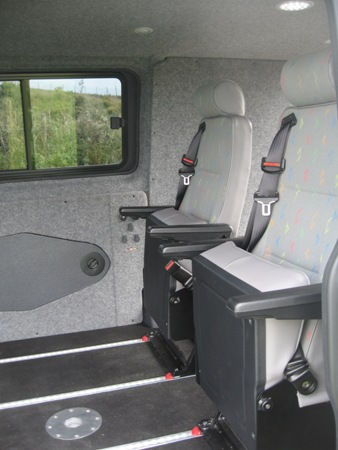 M1 tested Cogent free standing tip up seats (Click to enlarge)
