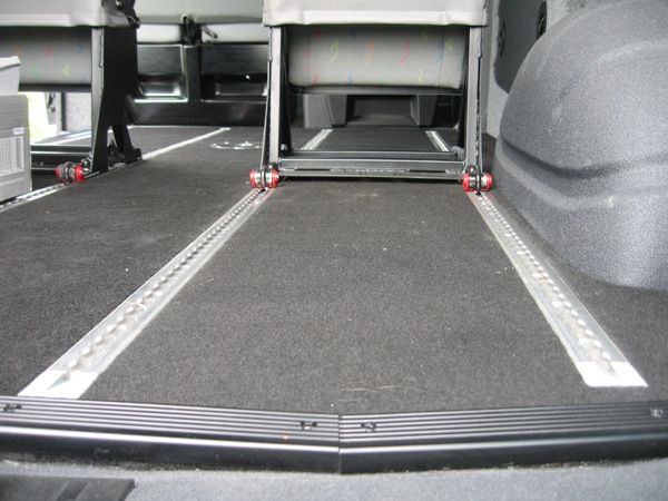 Unwin Aluminium Recessed Floor Tracking and Traxion Lockables (Click to enlarge)