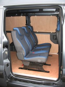 Fiat Scudo van with plywood lining (Click to enlarge)