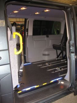 VW Transporter Taxi Conversion Custom Bulkhead (Click to enlarge)
