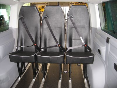 VW Transporter rear seats (Click to enlarge)